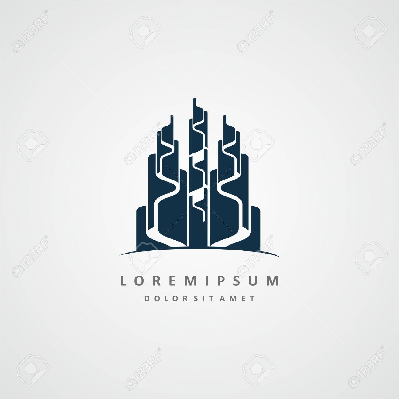 Souvent Construire Conception De Logo. Société Immobilière Conception De  LF94