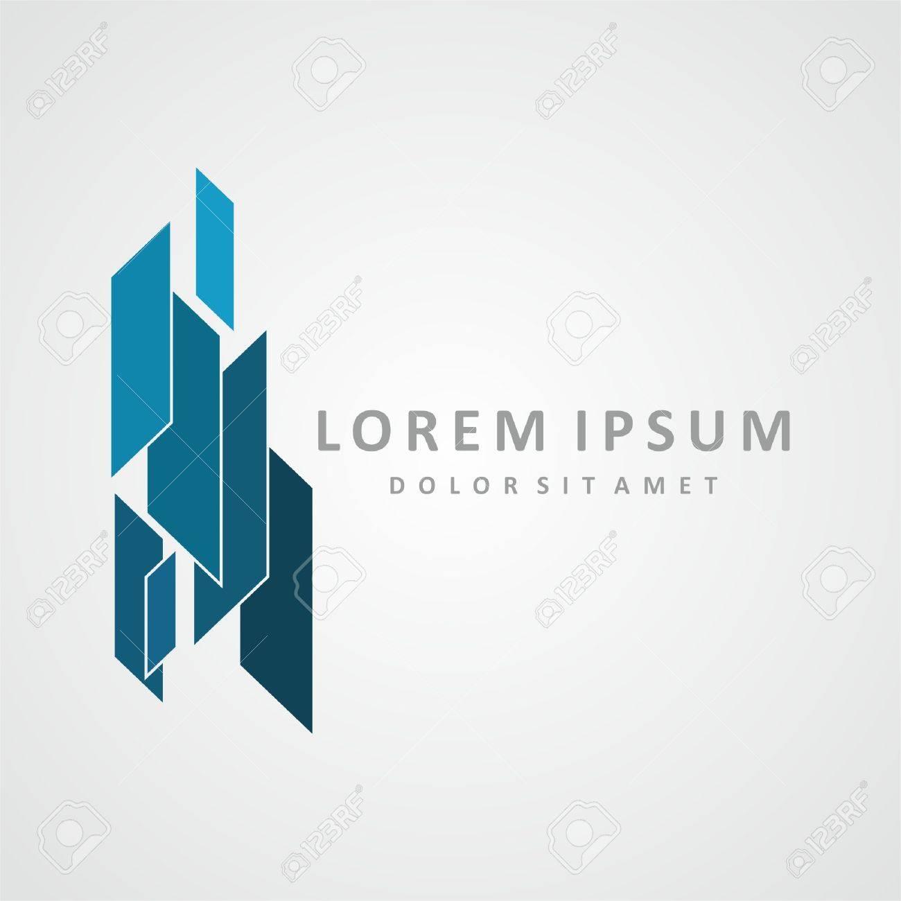 Building logo design  Real estate company logo design, abstract