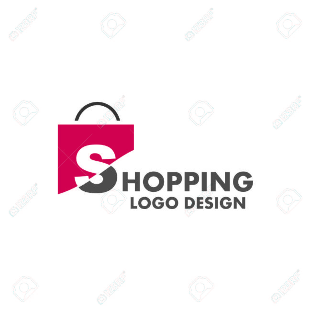 limpid in sight find lowest price detailed pictures Abstract letter S on shopping bag. Abstract shopping logo. Online..