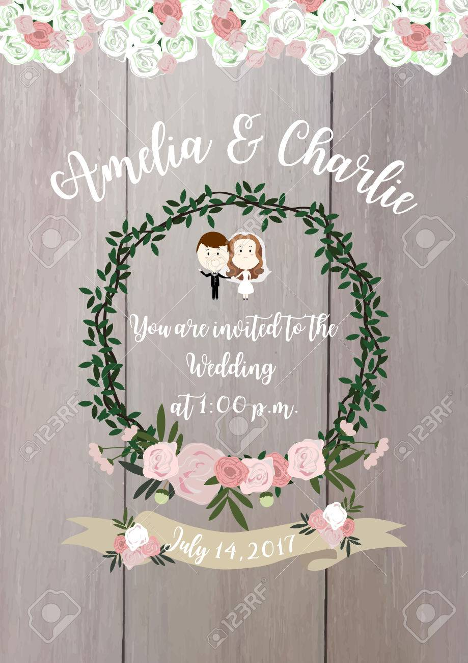 Wedding Collection For Banners,Flyers,Placards With Bouquet,ribbon ...