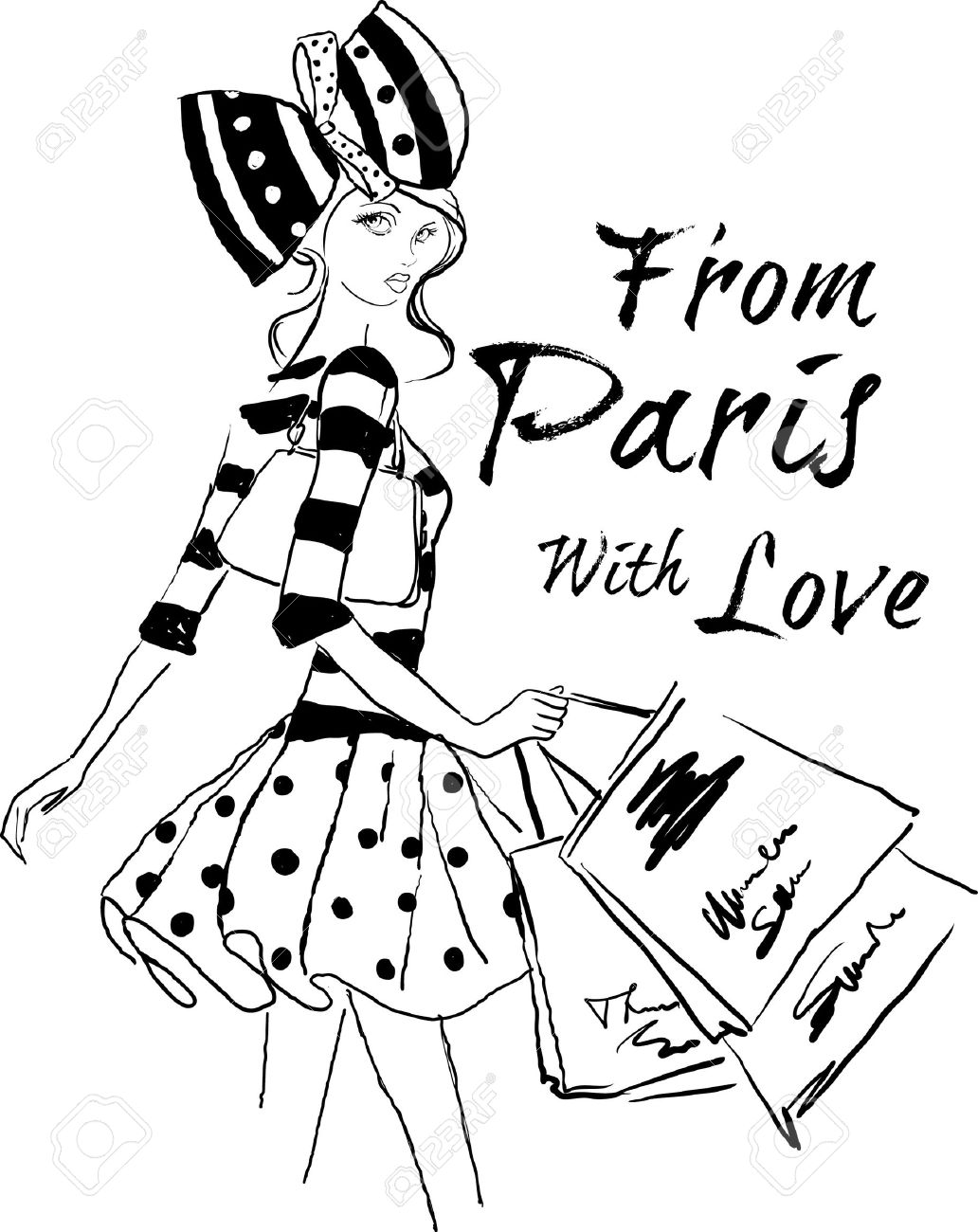 shopping in paris - 24515344