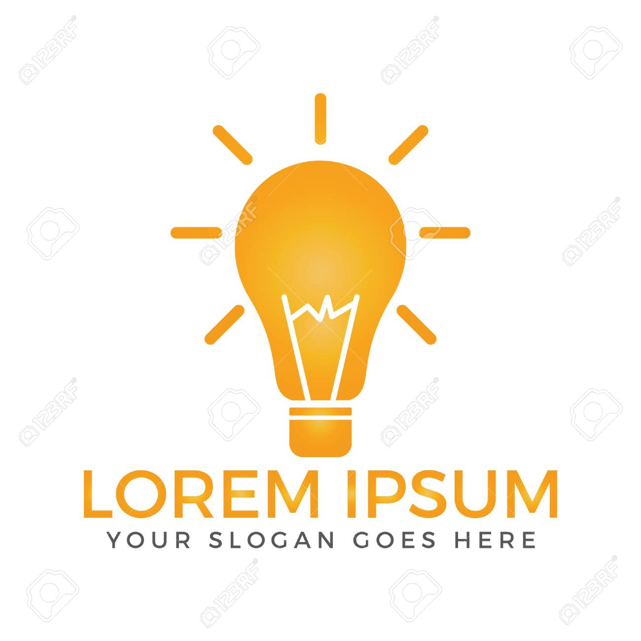 Creative Light Bulb Logo Design Royalty Free Cliparts Vectors And Stock Illustration Image 93209137