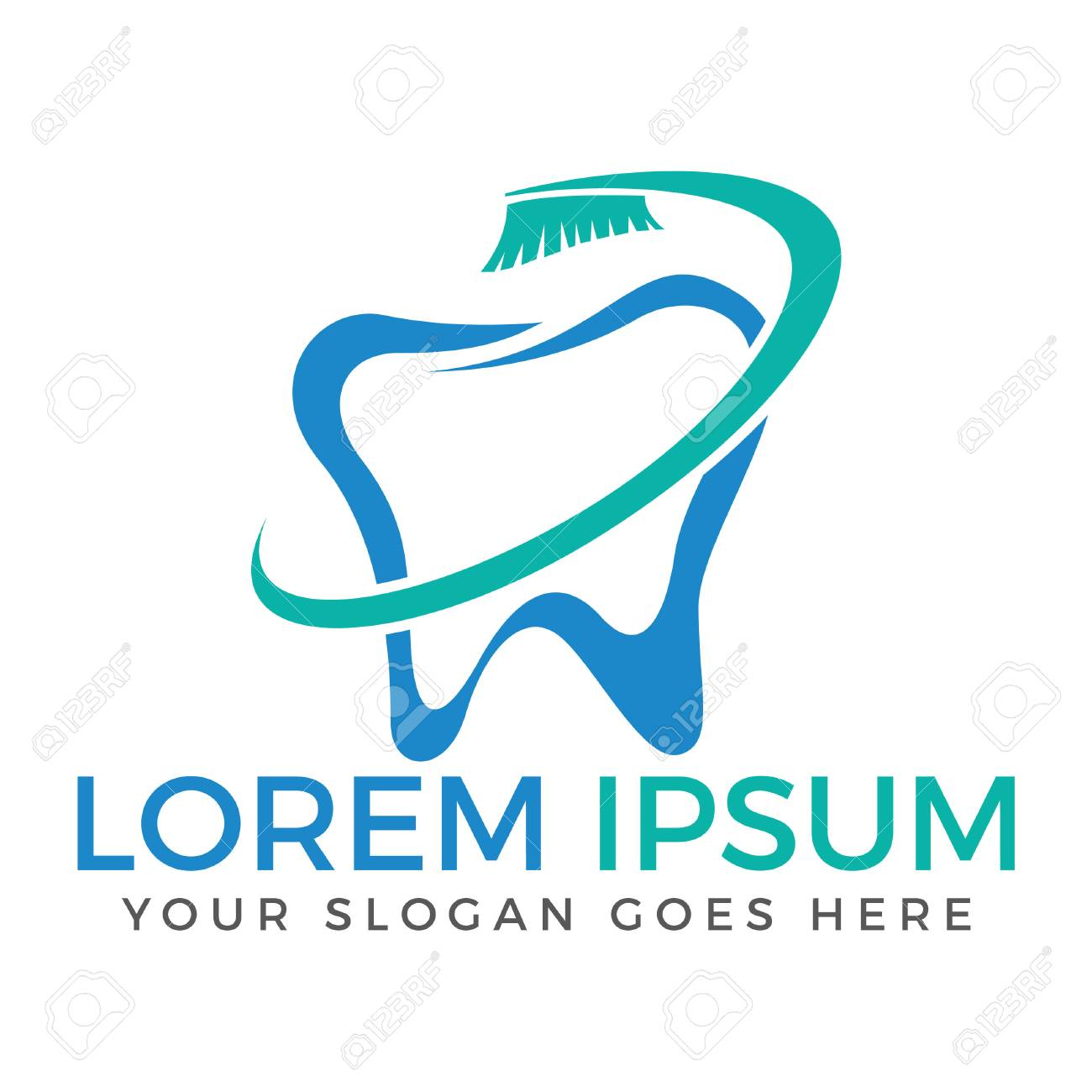 Tooth Vector Logo Template For Dentistry Or Dental Clinic And Royalty Free Cliparts Vectors And Stock Illustration Image 93448149