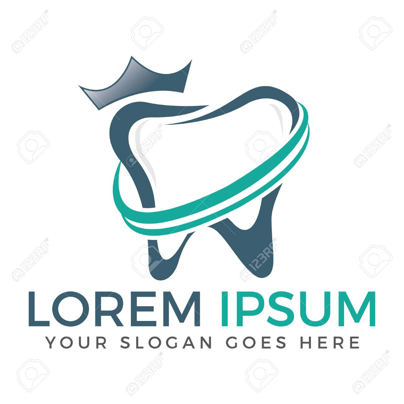 Dental Clinic Dentist Teeth Care Logo Design Royalty Free Cliparts Vectors And Stock Illustration Image 93448154