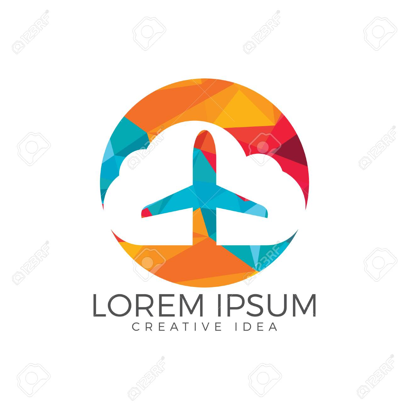 Creative Cloud Travel Logo Design Plane And Cloud Icon Design Royalty Free Cliparts Vectors And Stock Illustration Image 99294583