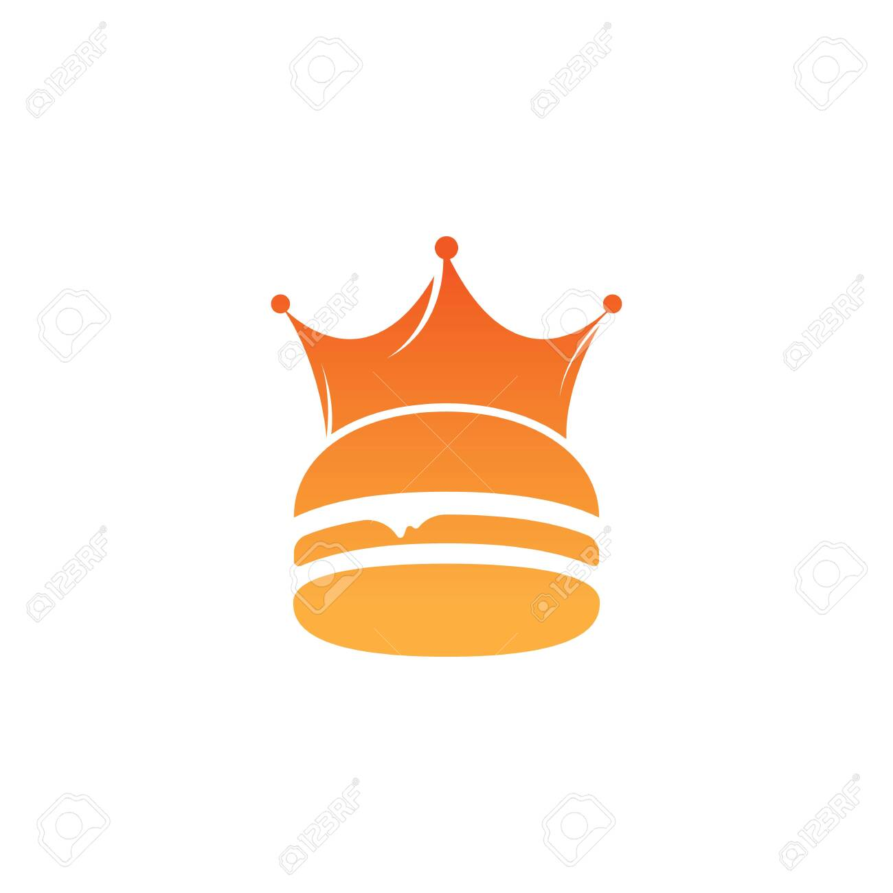 Burger King Vector Logo Design Burger With Crown Icon Logo Concept Royalty Free Cliparts Vectors And Stock Illustration Image 148652936