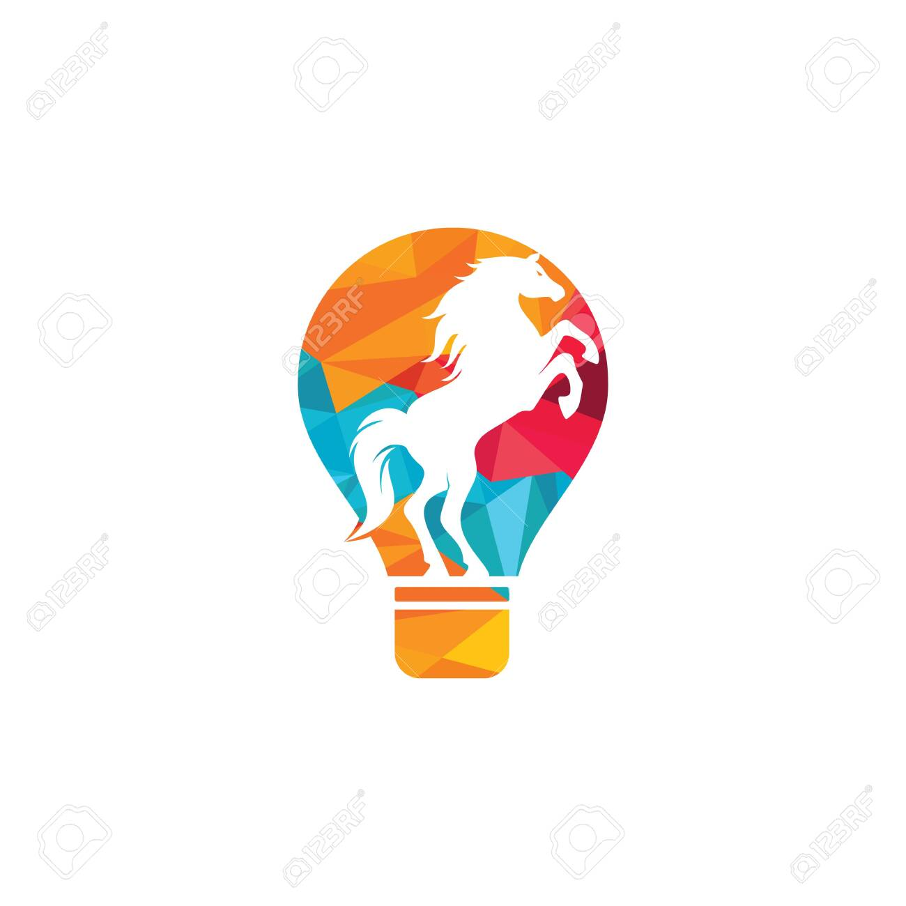 Light Bulb And Horse Logo Design Wild Ideas Logo Concept Royalty Free Cliparts Vectors And Stock Illustration Image 151283326