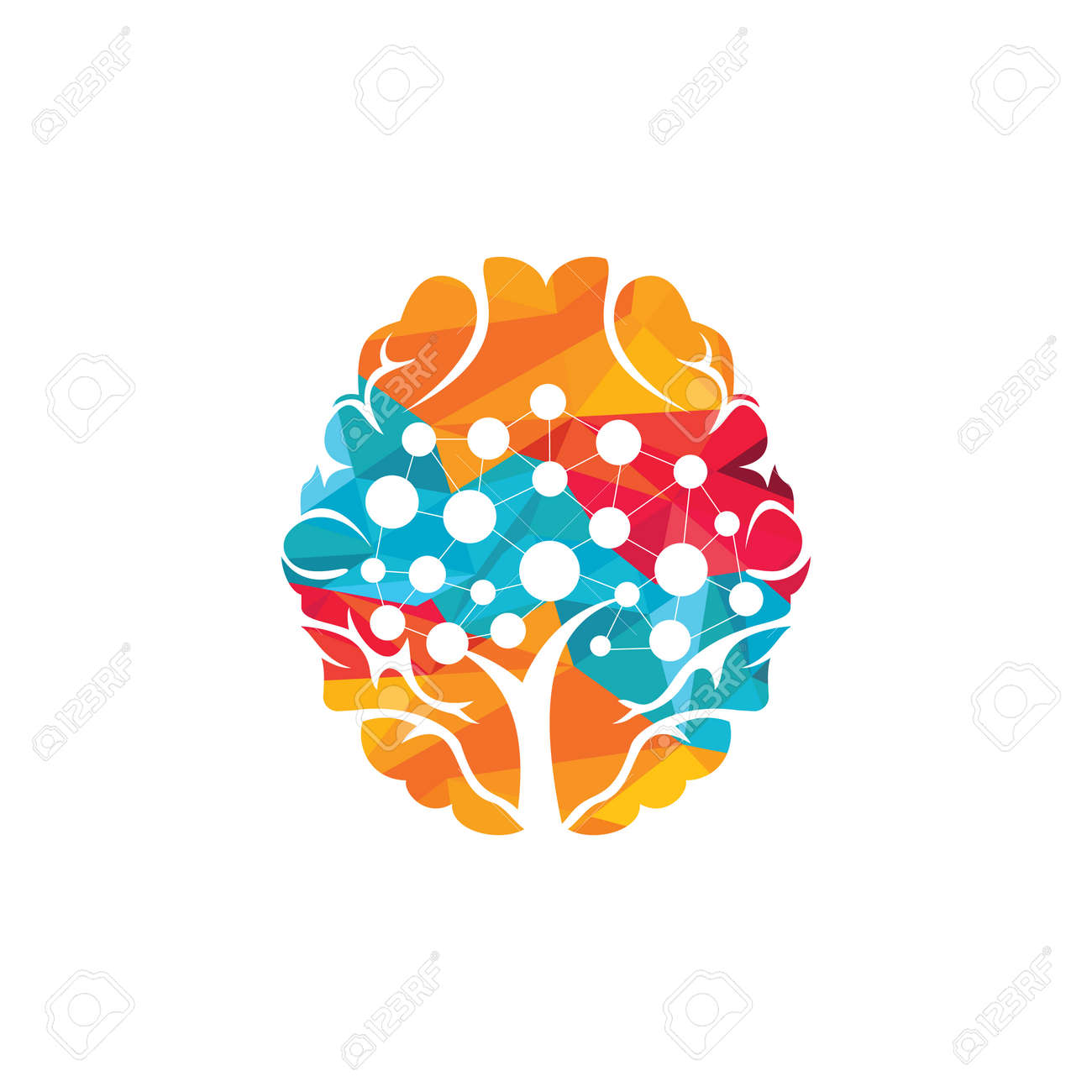 Brain technology vector logo design. Robotic Brain logo template. - 157918574