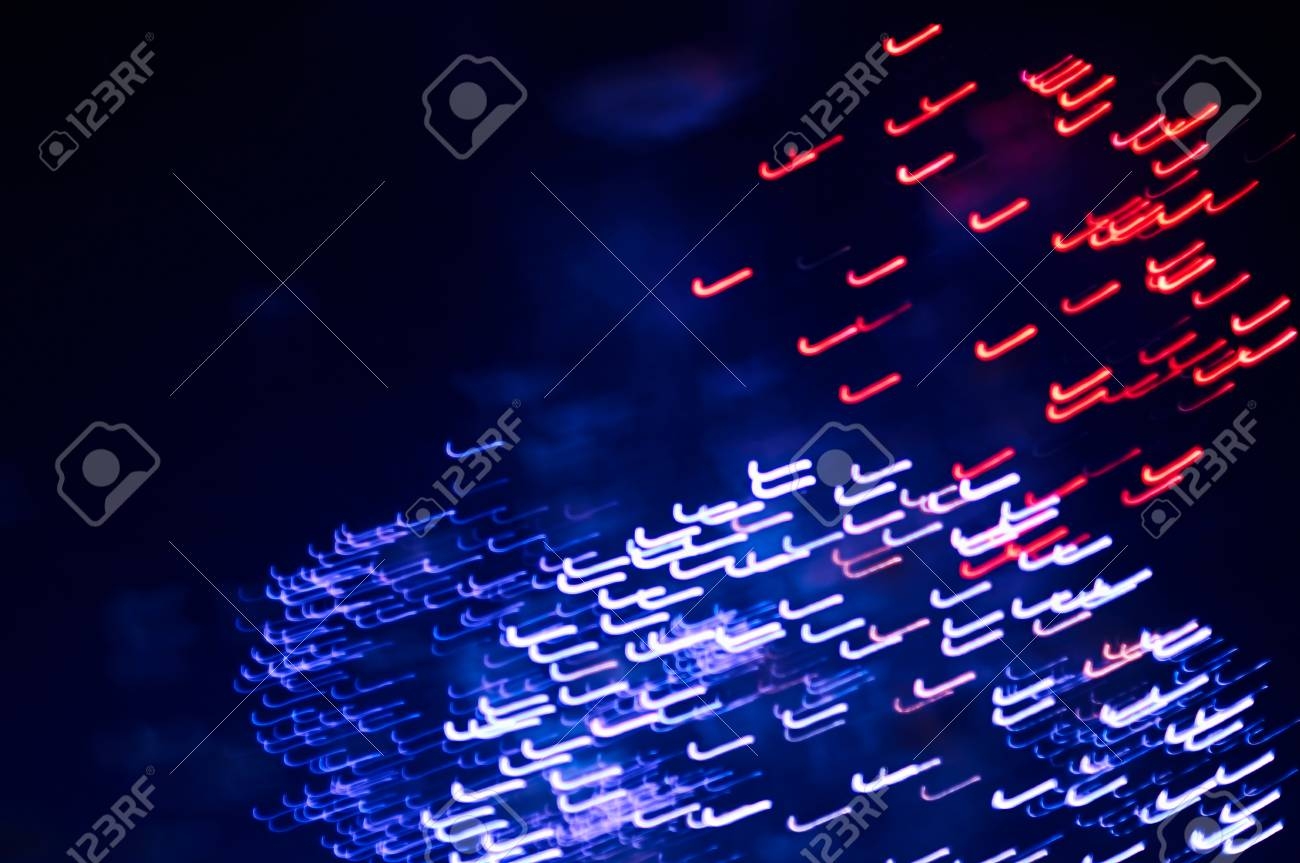 Abstract Blue And Red Lines Soft Defocused Background Firework