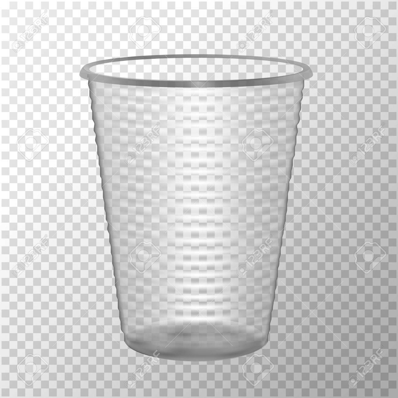 Transparent Plastic Cup Mock Up For Your Design Photo Realistic