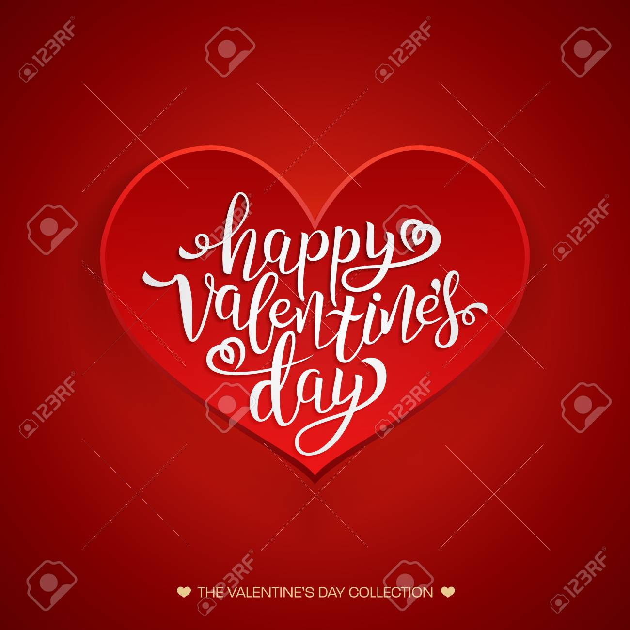 Beautiful valentines card happy valentines day hand drawing beautiful valentines card happy valentines day hand drawing vector lettering design red greeting card kristyandbryce Images