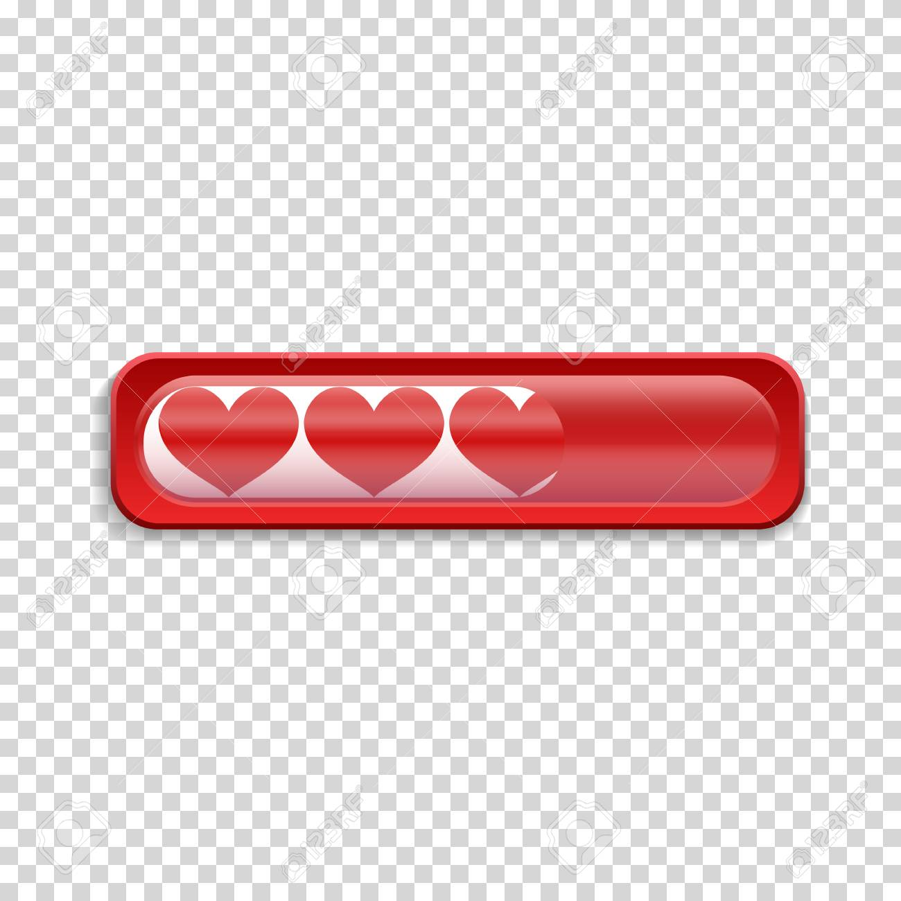 Loading Bar With Red Heart. Isolated On Transparent Background ...