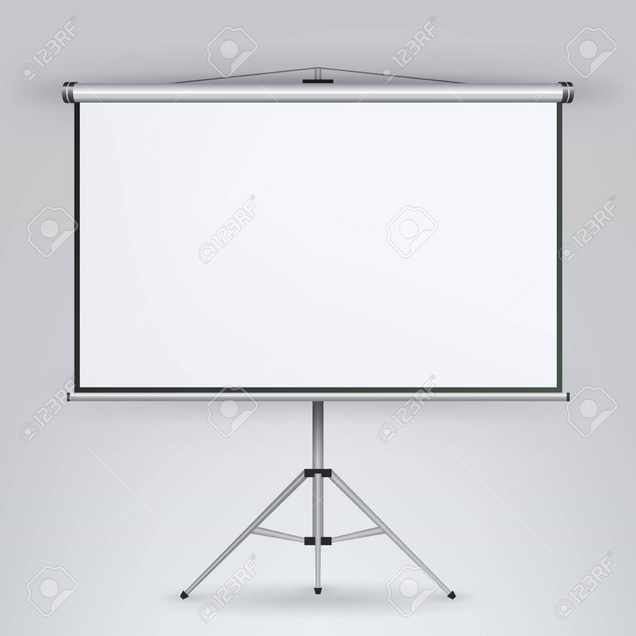 meeting projector screen vector white board presentation conference