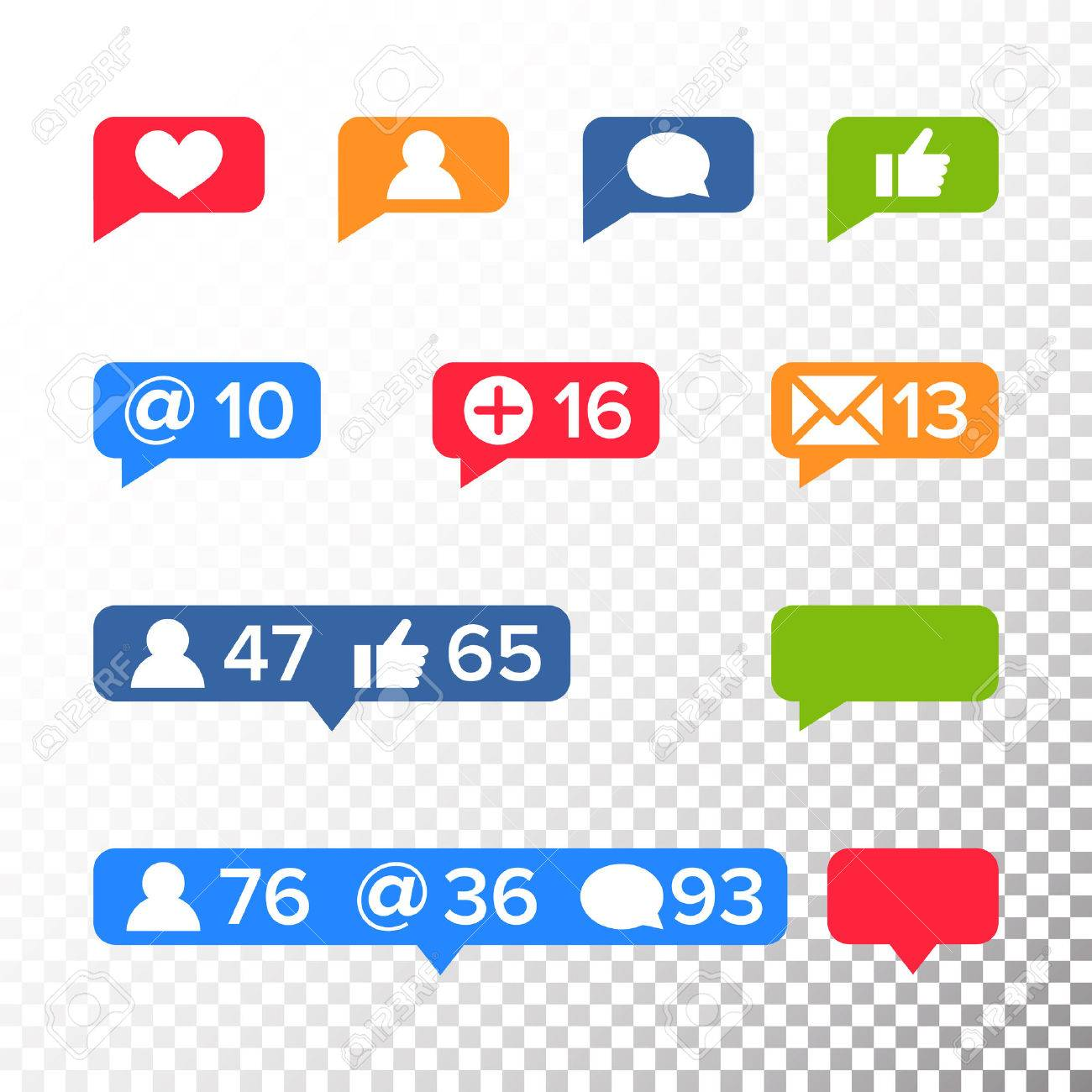 Notifications icons template vector like symbol message and notifications icons template vector like symbol message and notification set instagram stock vector buycottarizona Choice Image