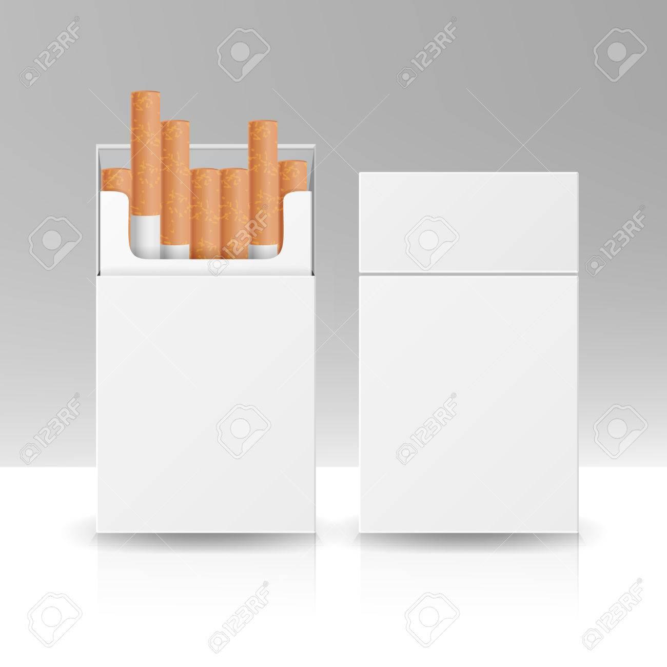 Boite A Paquet De Cigarette boîte en paquet vierge boîte de cigarettes modèle de vecteur 3d pour