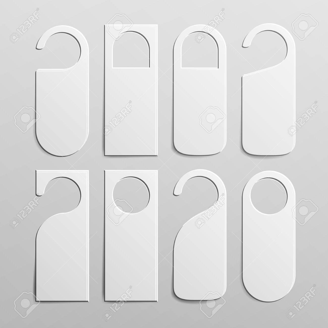 Jeu De Cintres De Poignee De Porte En Plastique Blanc Blanc