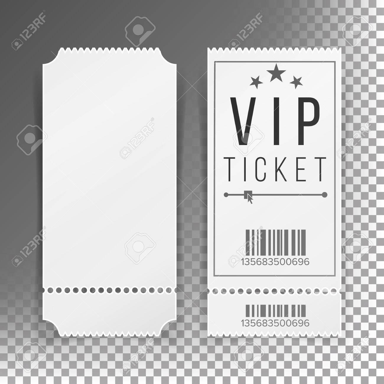 ticket template set vector blank theater cinema train football