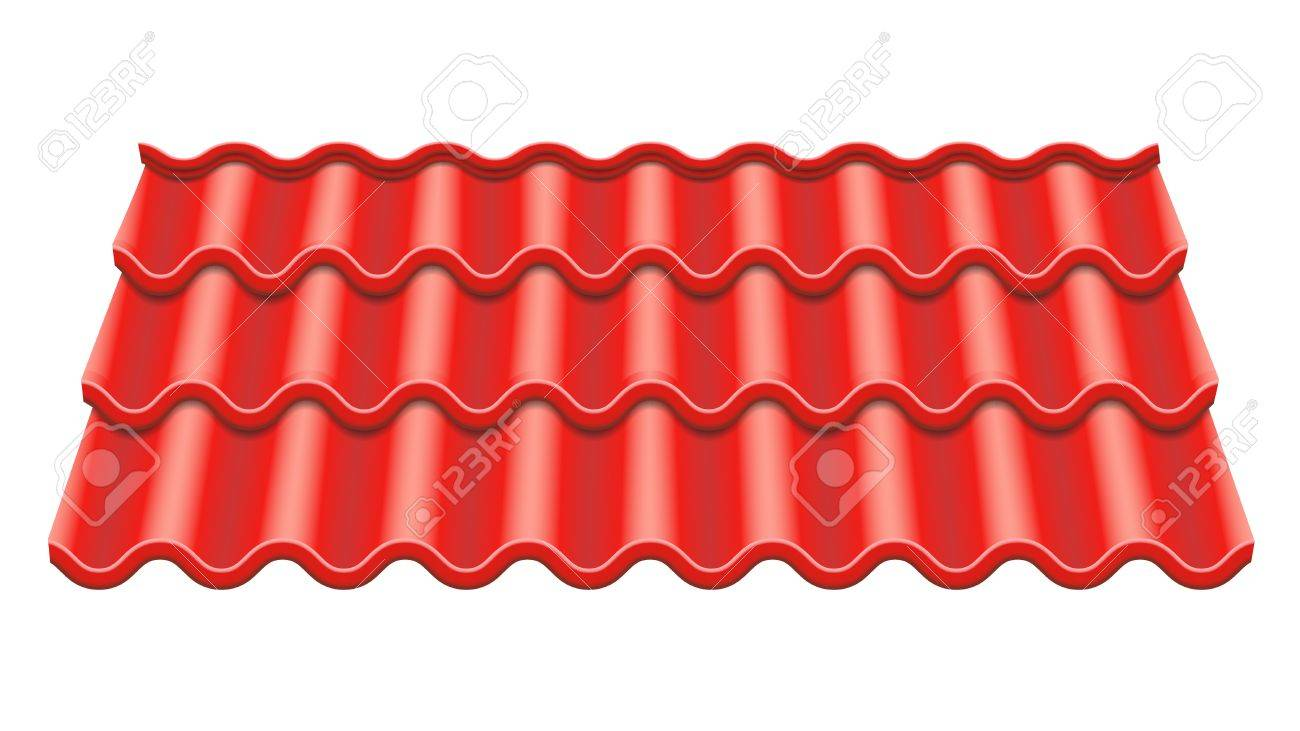 Red corrugated tile vector element of roof ceramic tiles fragment red corrugated tile vector element of roof ceramic tiles fragment of roof illustration dailygadgetfo Choice Image