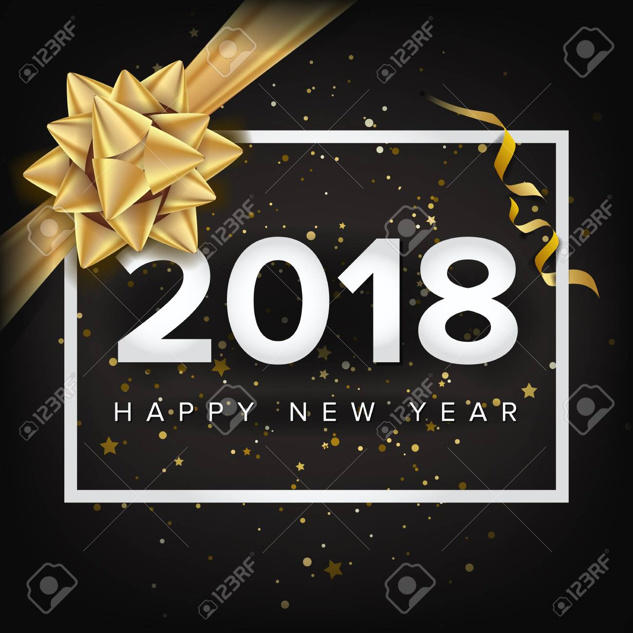 Happy new year 2018 invitation vector christmas greeting card happy new year 2018 invitation vector christmas greeting card modern new year poster m4hsunfo