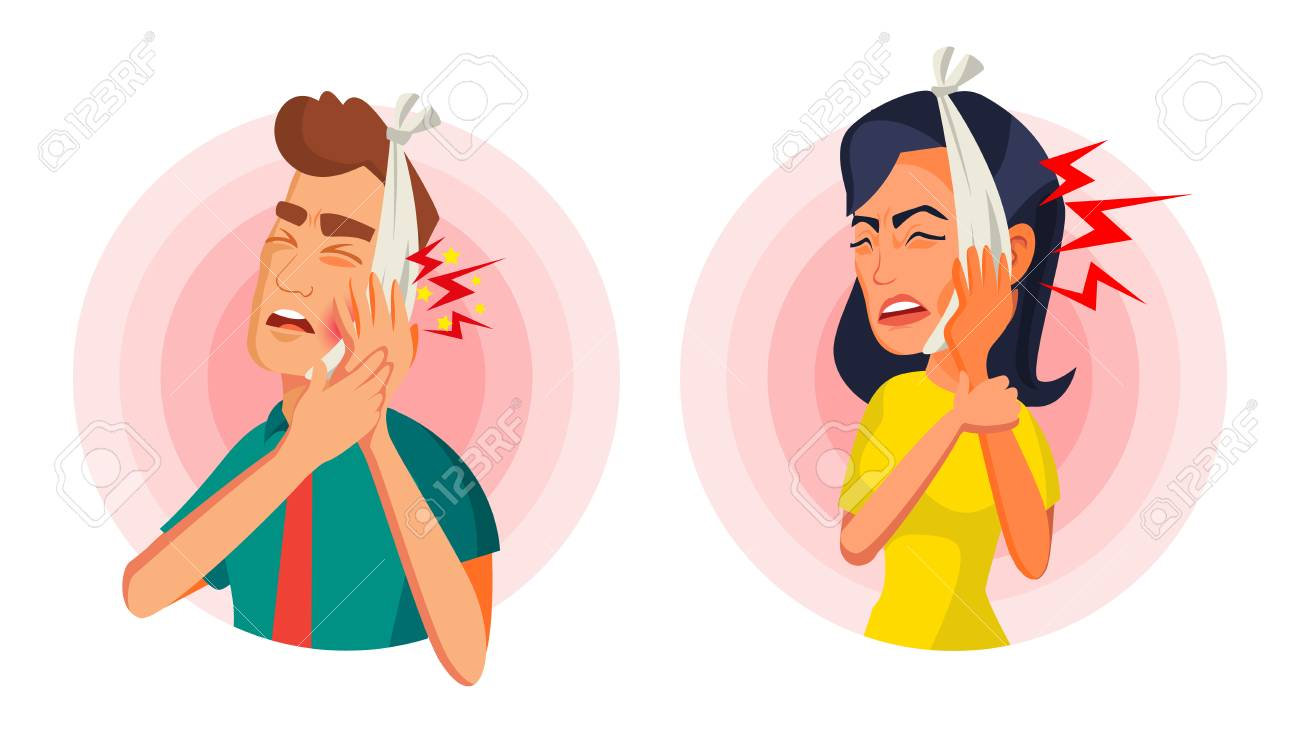 Toothache Concept Vector. Oral Toothache Concept. Sad Patient Suffering From Toothache. Cartoon Character Illustration - 88670213