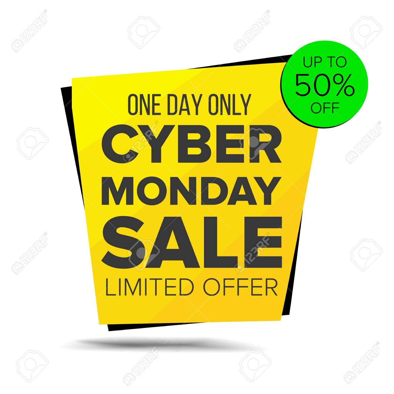 a9f5f0143b2 Cyber Monday Sale Banner Vector. Up To 50 Percent Off Monday..