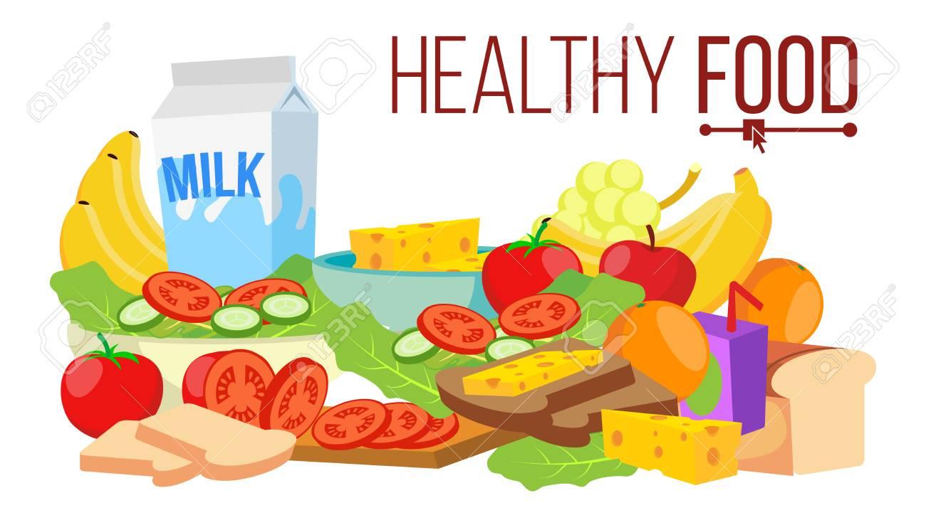 Vector De Comida Saludable Diet For Life Nutrition Dieta