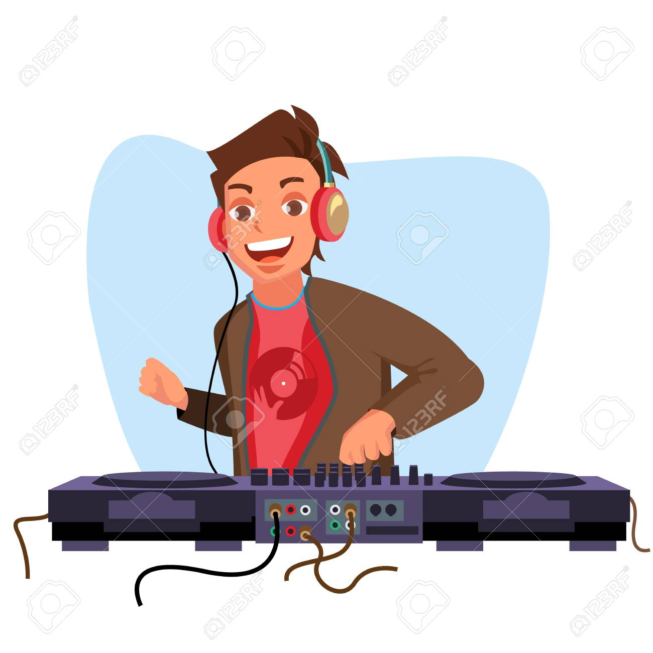 modern dj vector playing progressive electro music dj and mixing rh 123rf com dj victoria dj vector art