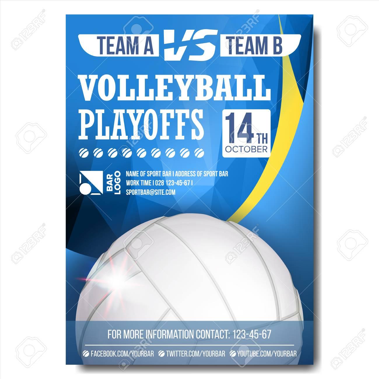 volleyball poster vector sport event announcement banner