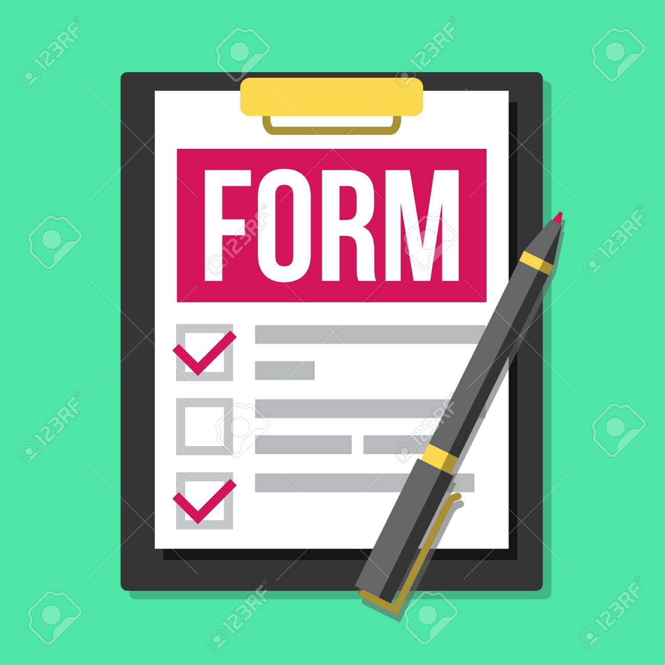 claim form vector to do list flat illustration royalty free