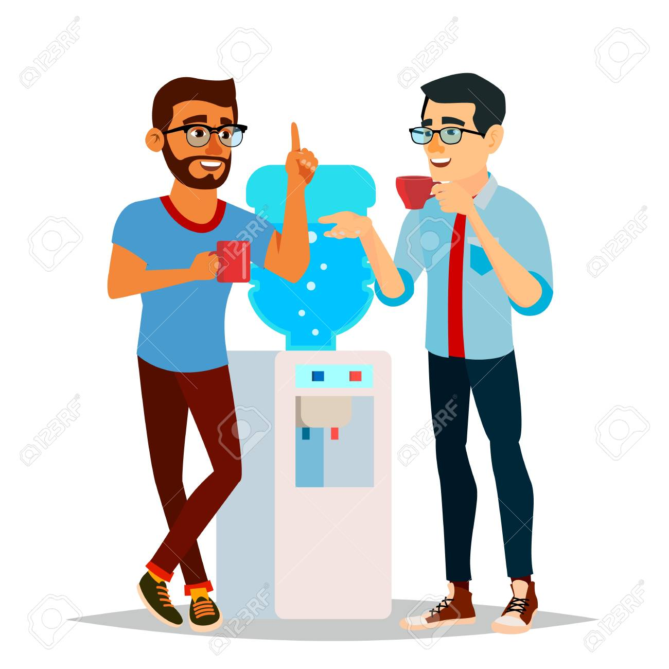 water cooler gossip vector modern office water cooler laughing