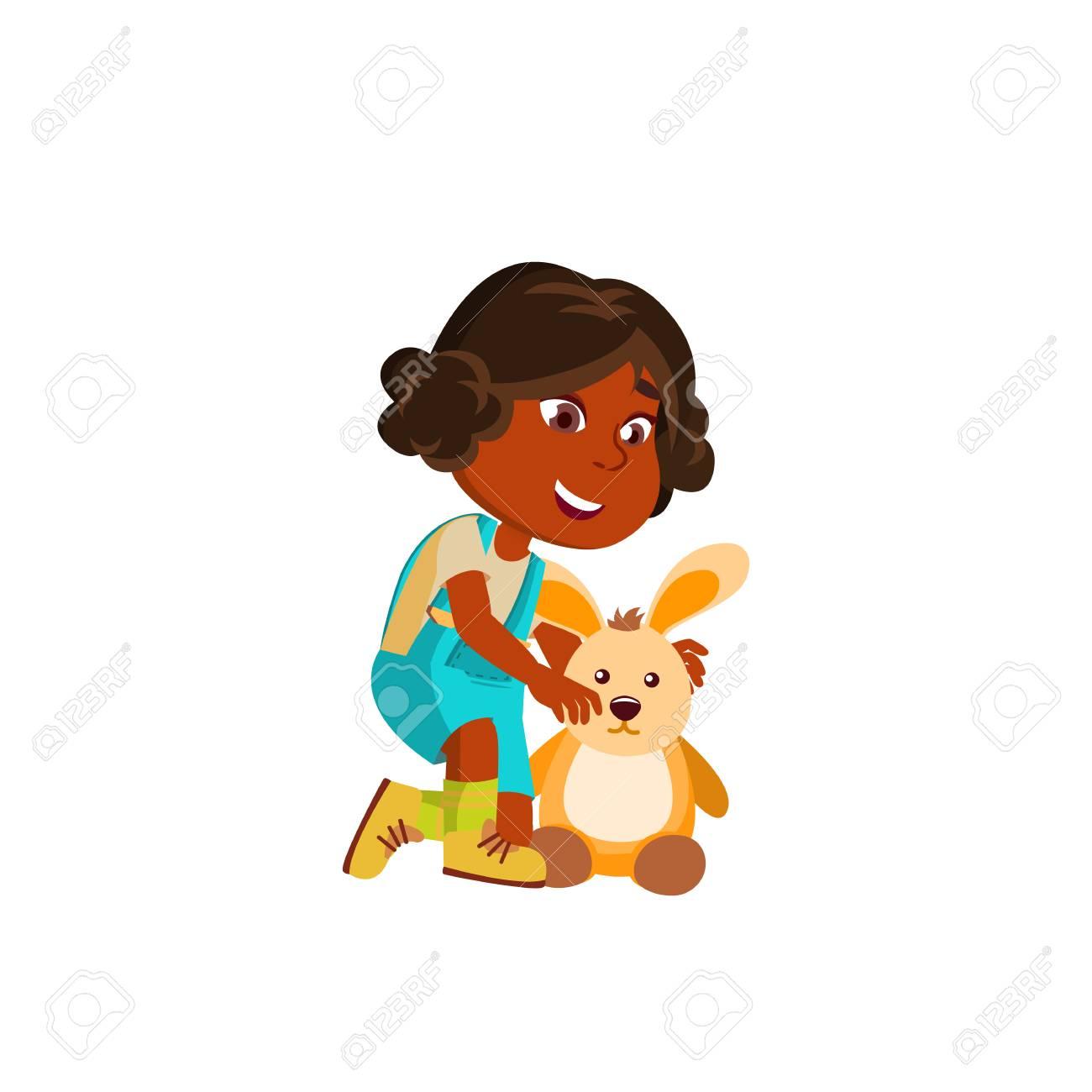 Indian Girl Kindergarten Kid Poses Vector Character Playing