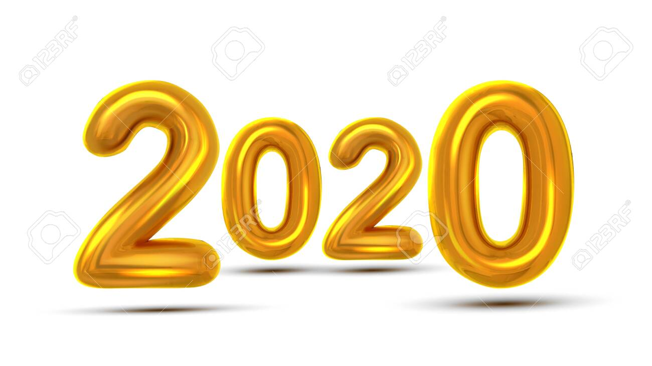 2020 Current Events For Christmas 2020 Christmas Greeting Card Banner Vector. Glint Gold Color