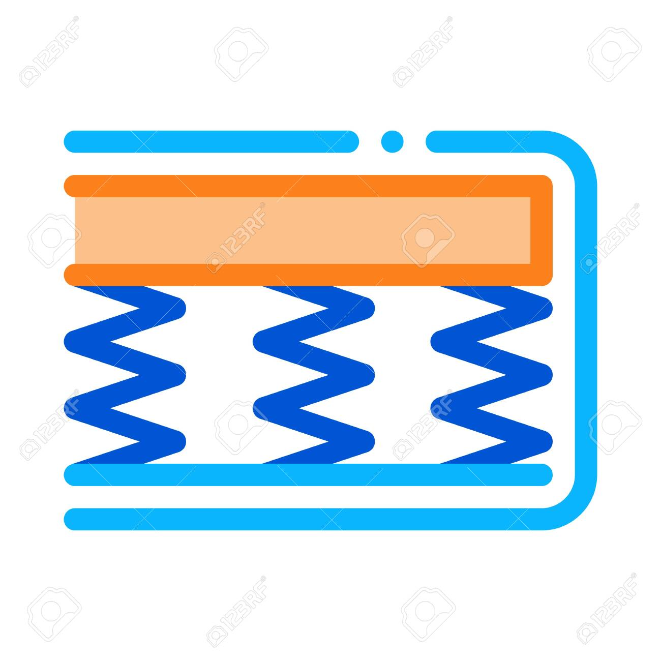 Mattress Springs Foam Icon Vector Outline Mattress Springs Foam Royalty Free Cliparts Vectors And Stock Illustration Image 137247243