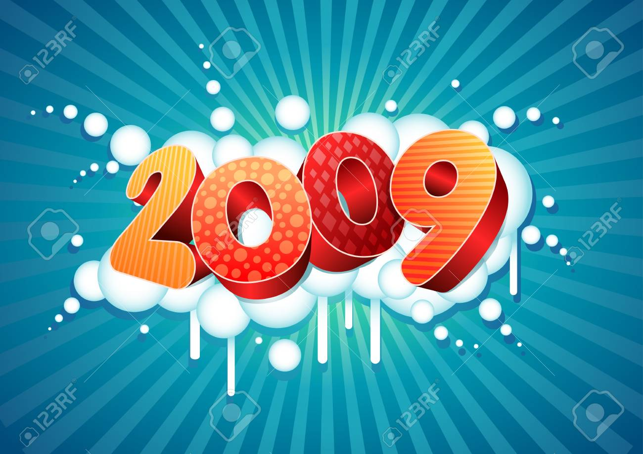 2009 new year composition. All elements are layered separately in vector file. Stock Vector - 18910658