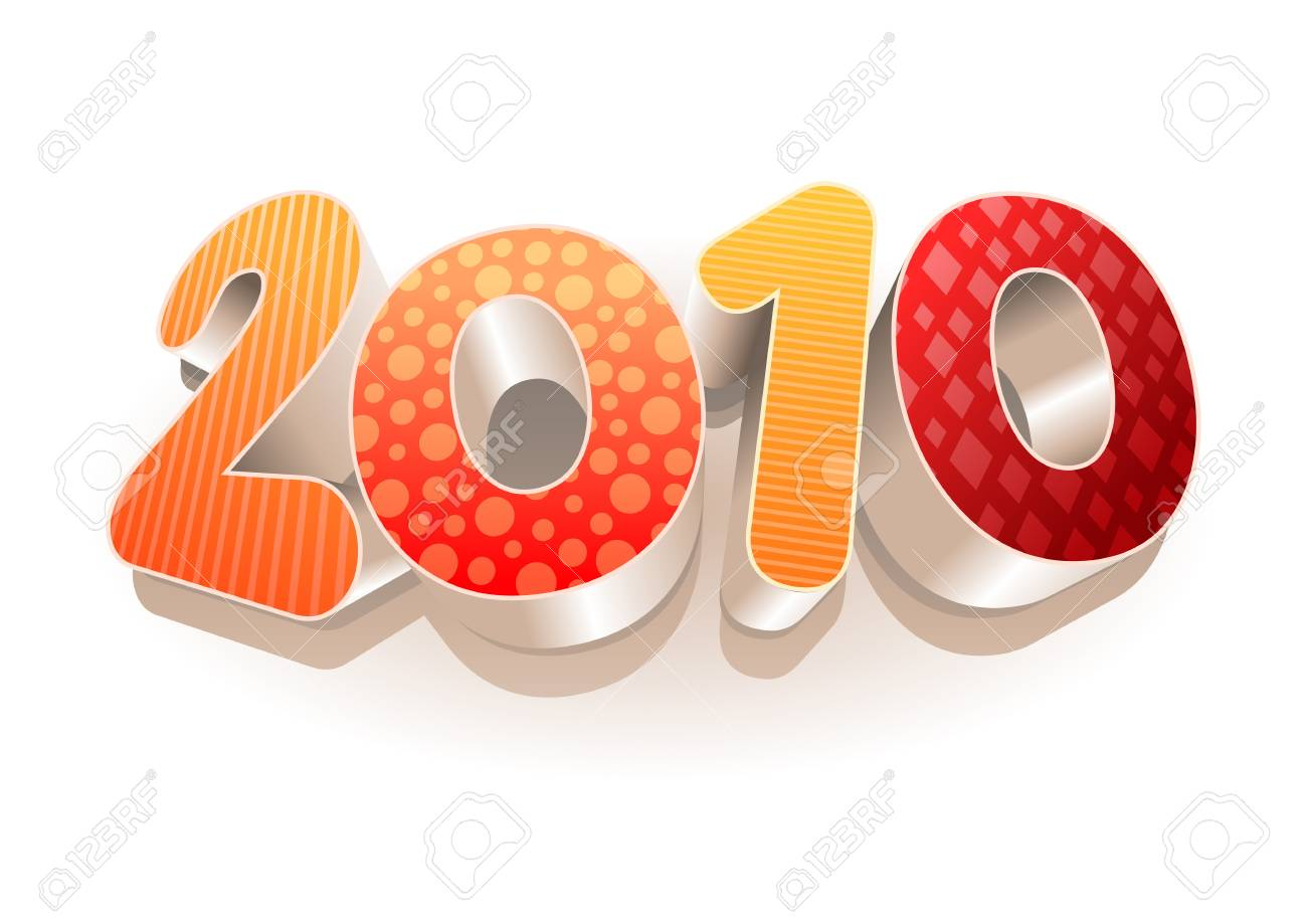 3d vector 2010. All elements are layered separately in vector file. Stock Vector - 18910676