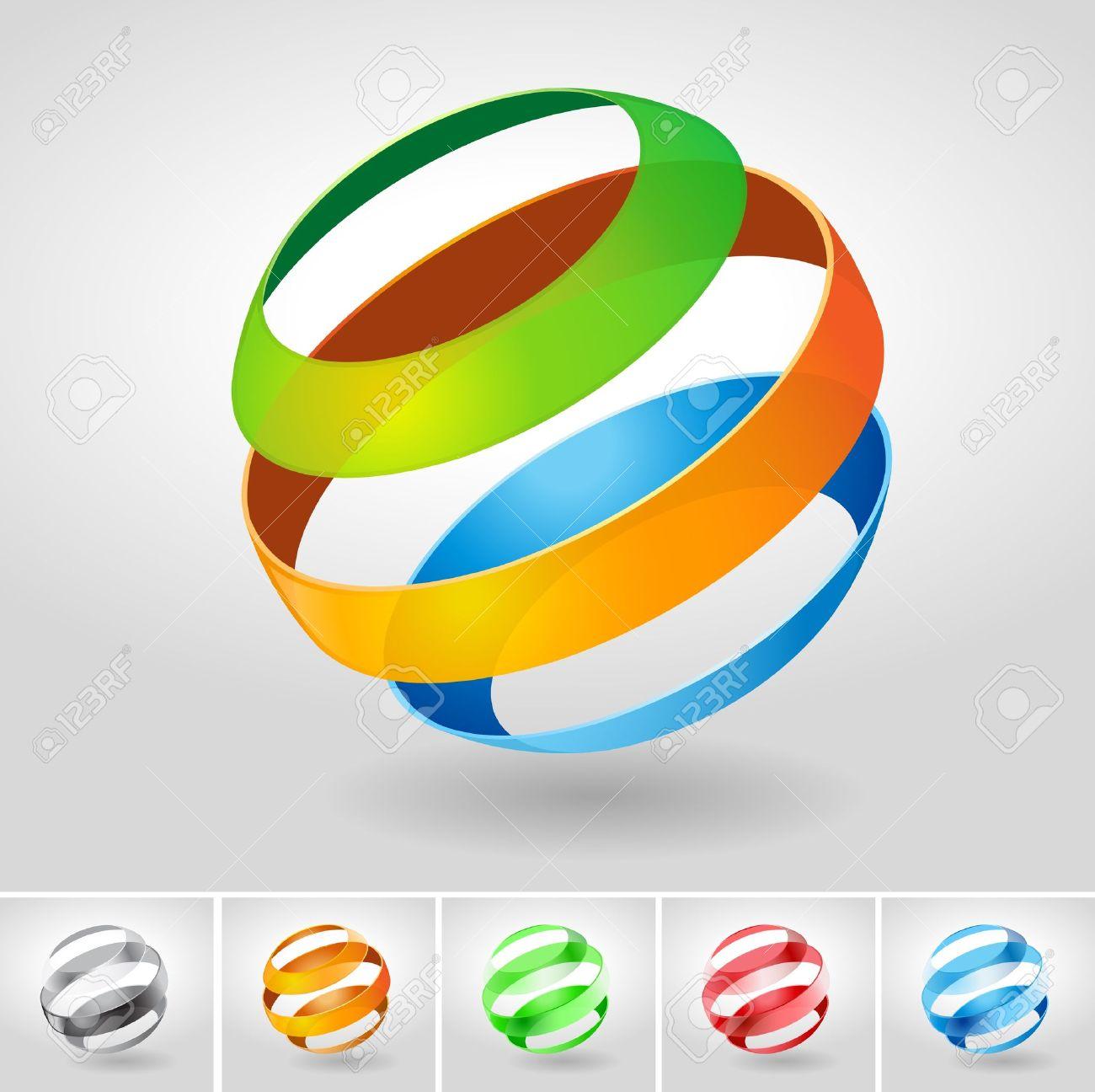 Vector transparency sphere symbol. Stock Vector - 18910779