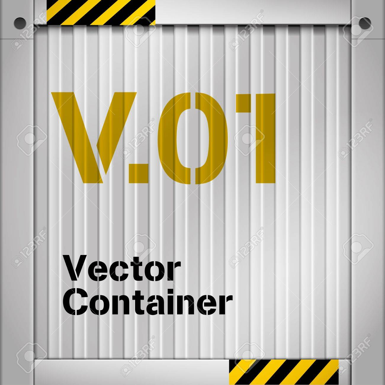 illustration of cargo container Stock Vector - 18923905