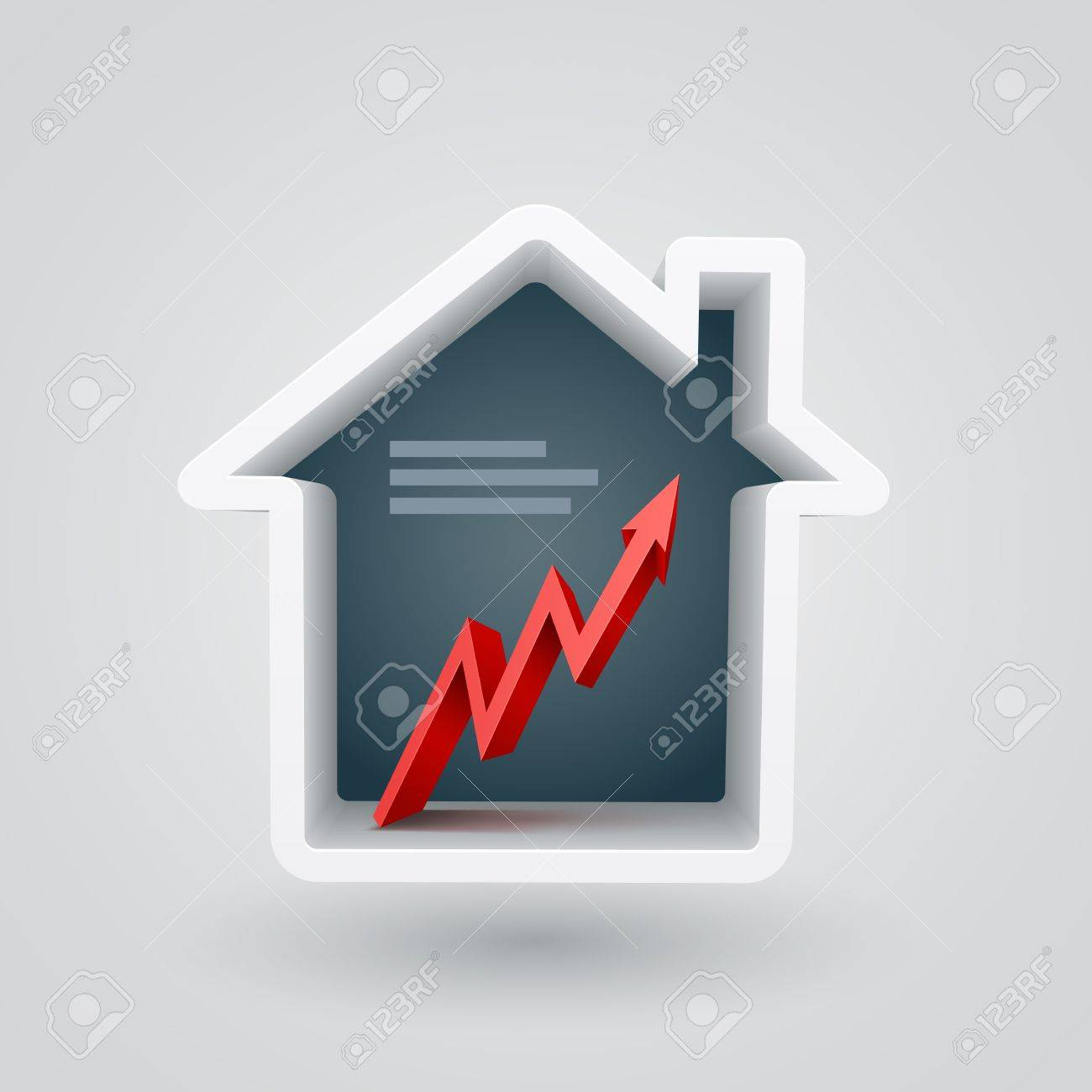 Vector illustraton of real estate themed house  Chart Stock Vector - 21037324