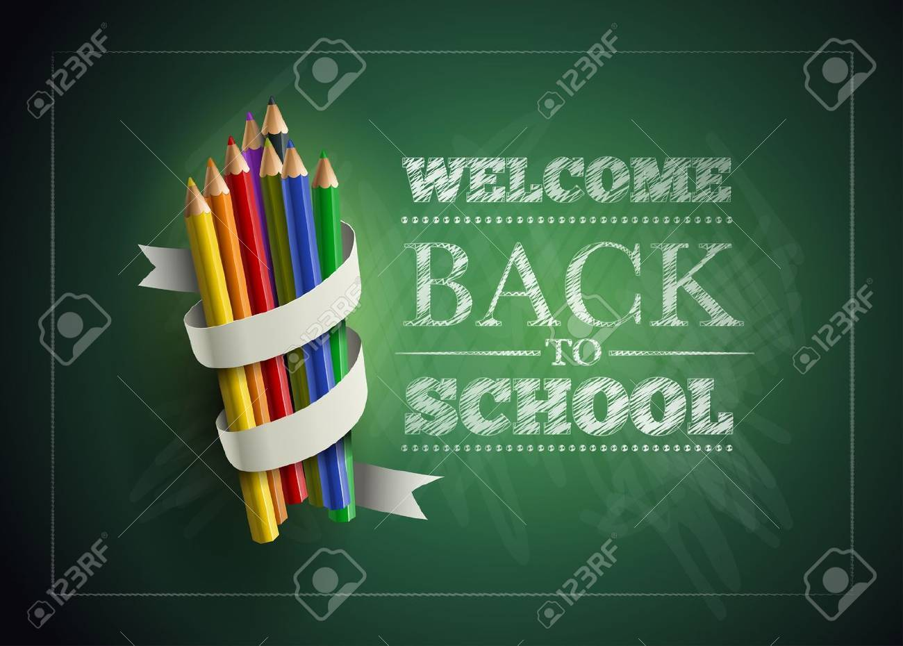 Welcome back to school. Vector illustration. Stock Vector - 21037372