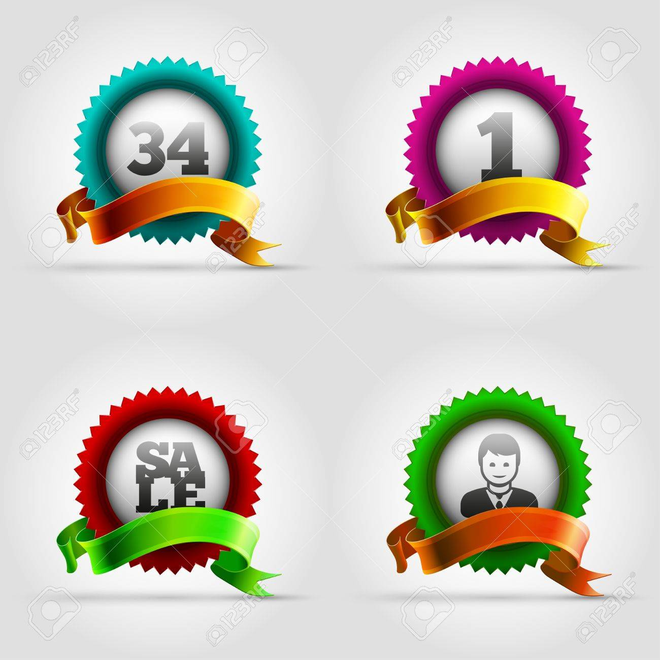 Vector colorful badge collection Stock Vector - 22095678