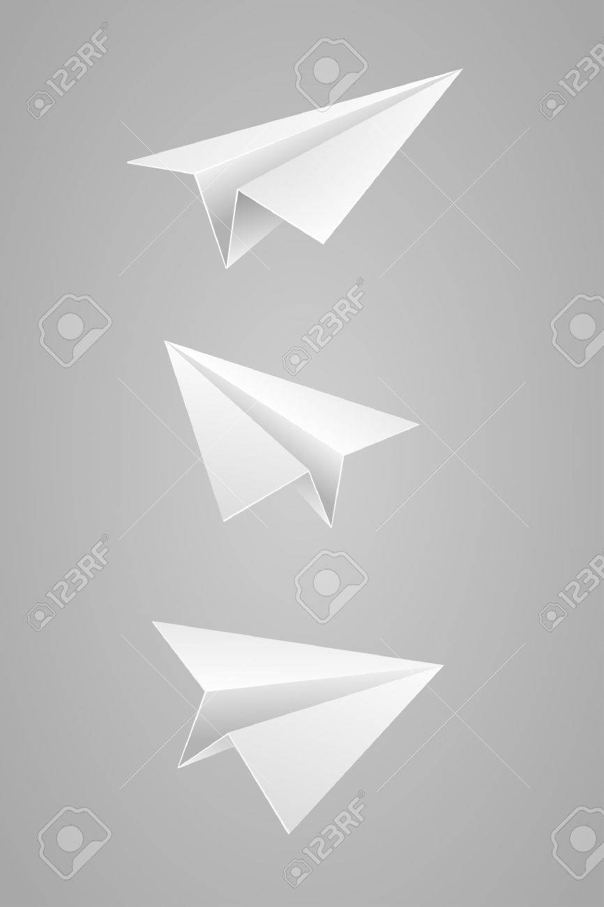Vector illustration set of white paper airplane Stock Vector - 22440691