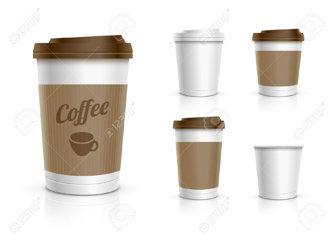 Disposable coffee cups collection - 27715624