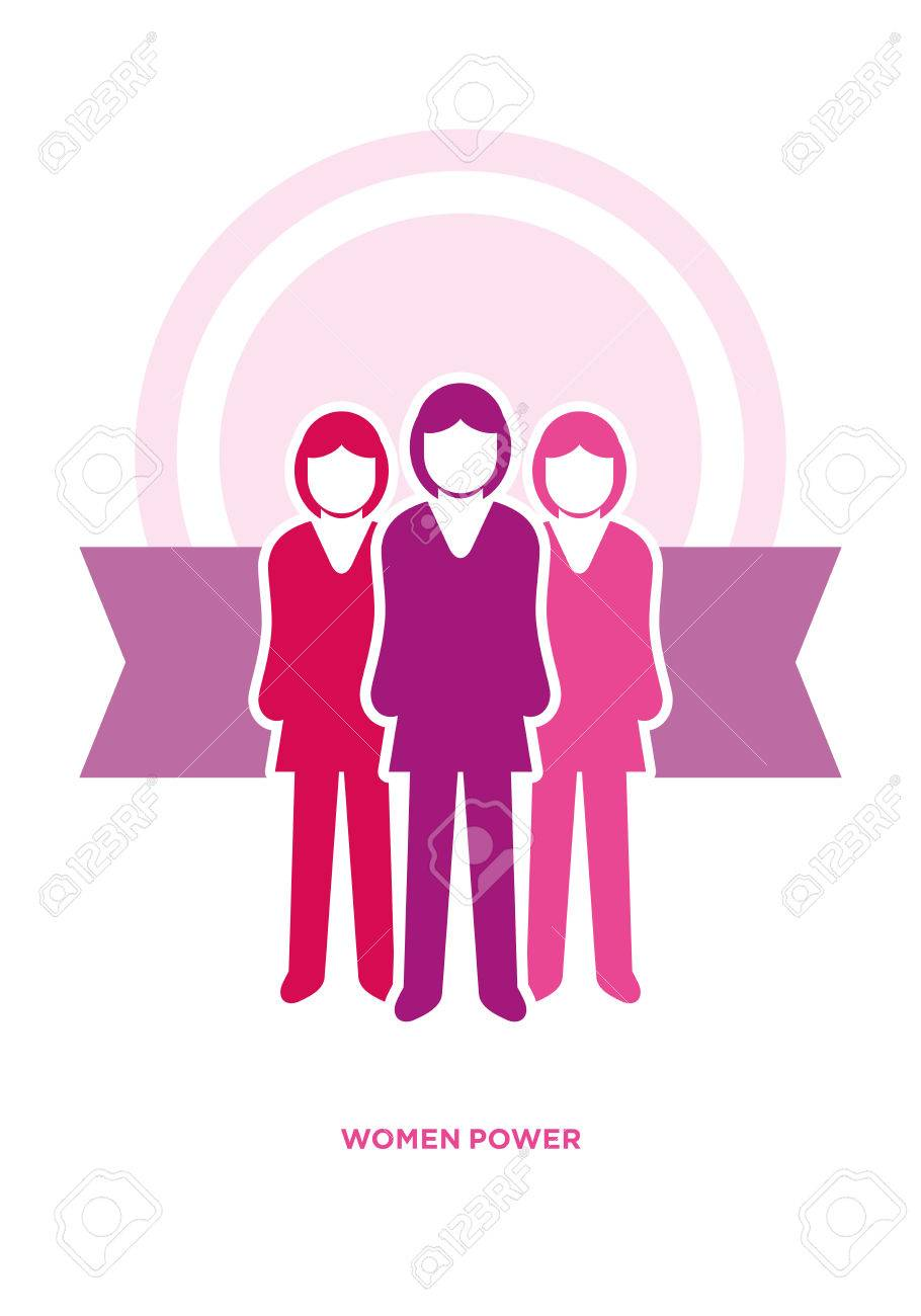 Vector business women power concept illustration Stock Vector - 29195765