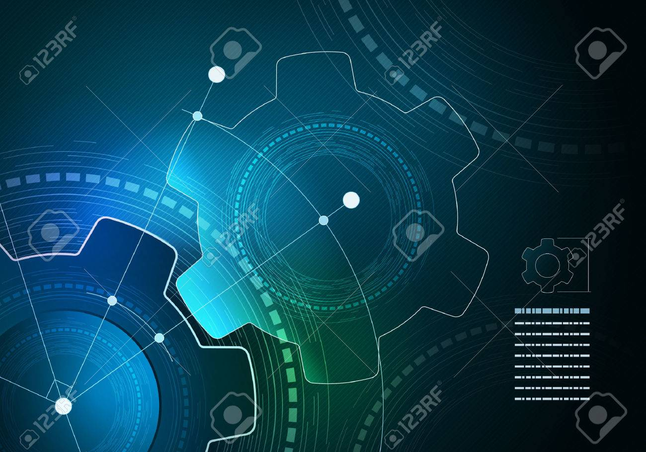 Vector technological infographic layout design. Elements are layered separately in vector file. - 51228946