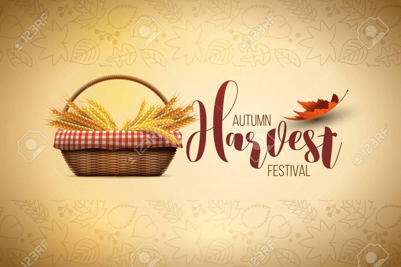 autumn harvest festival poster design template - 59767373