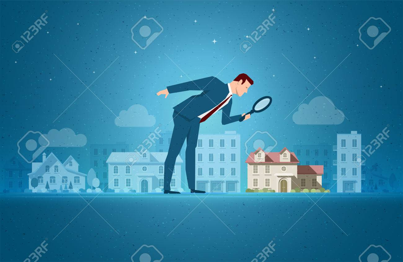 Business concept vector illustration. Investing, real estate, investment opportunity concept. Elements are layered separately in vector file. - 69252705