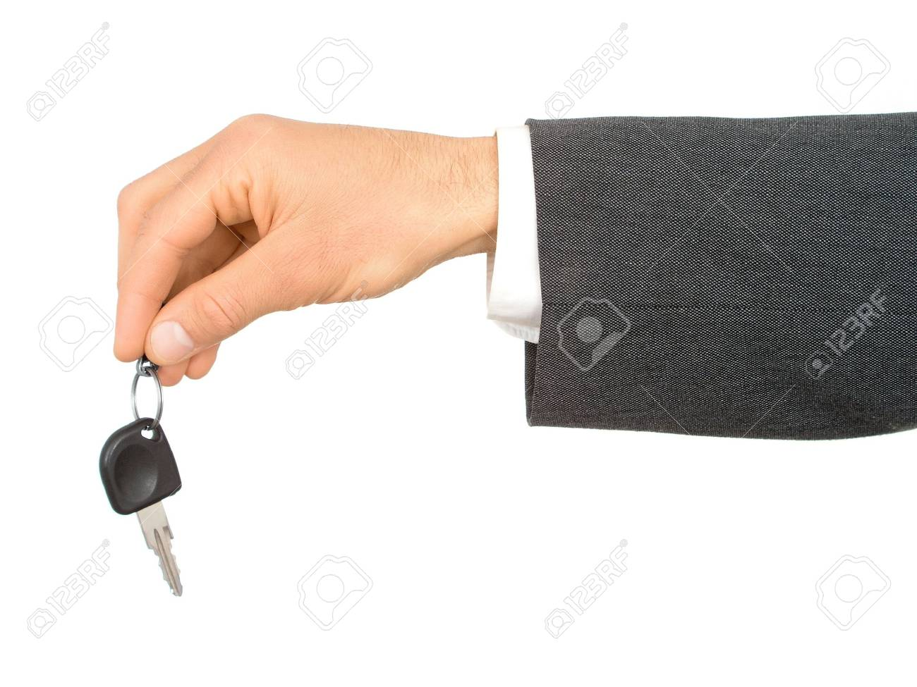 Businessman's Hand Holding Car Key Stock Photo - 471873