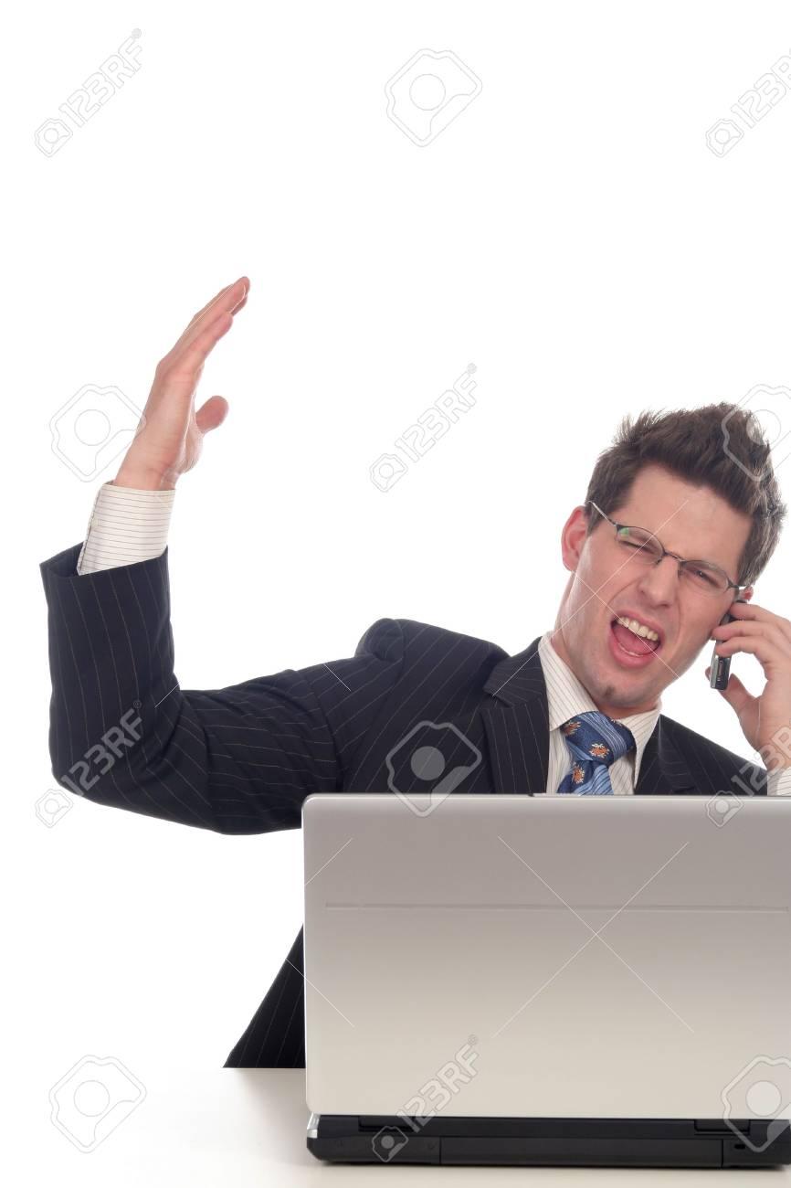 Businessman using laptop Stock Photo - 667667