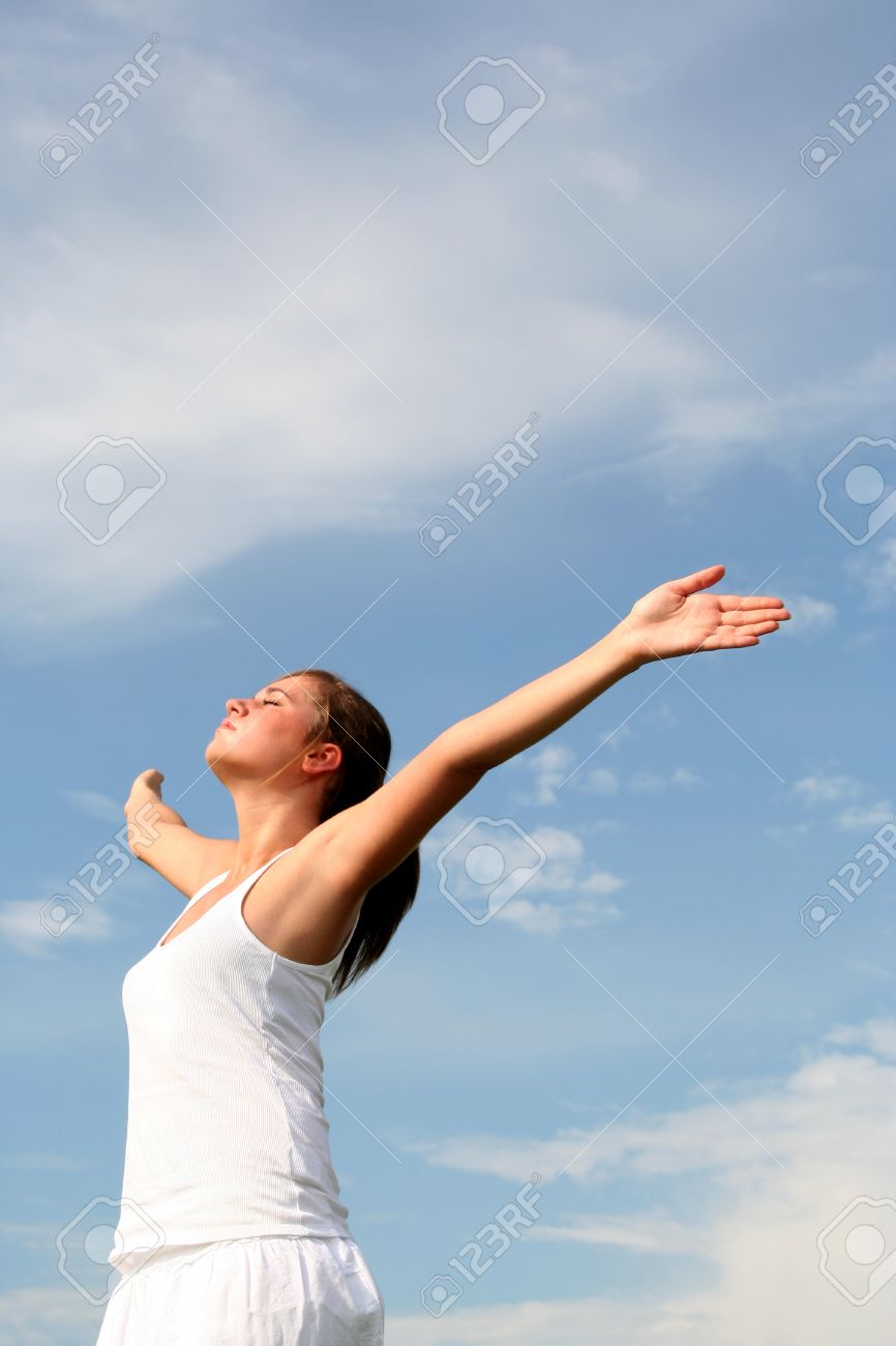 Woman with arms outstretched Stock Photo - 1478820