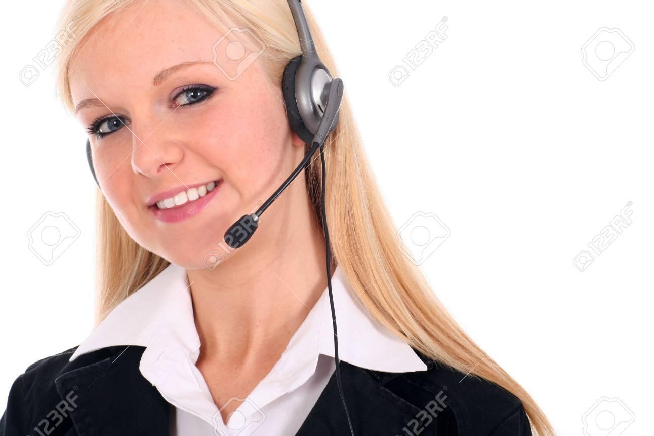 Call center operator Stock Photo - 2496884